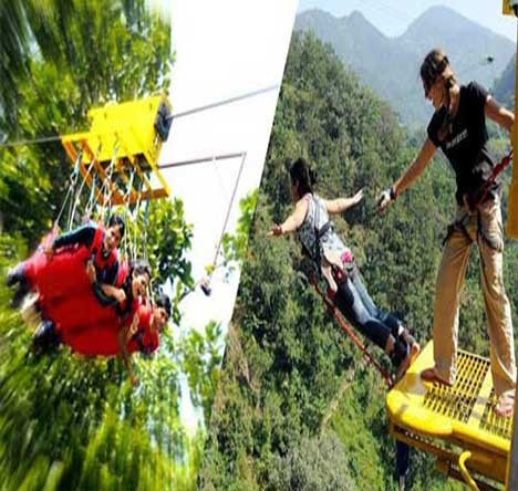 Bungy Jump Giant Swing Flying Fox tandem