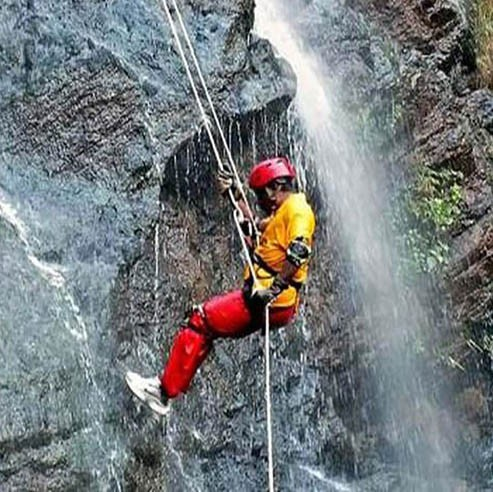 Waterfall Rappelling at Madhe Ghat