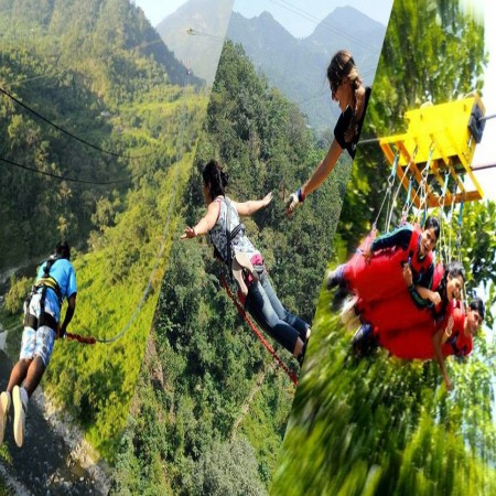 Bungy Jumping, Giant Swing & Flying Fox (Tandem)