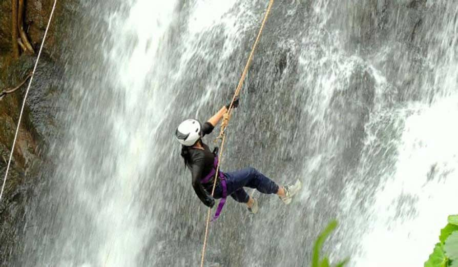 Kondana Caves Waterfall Rappelling